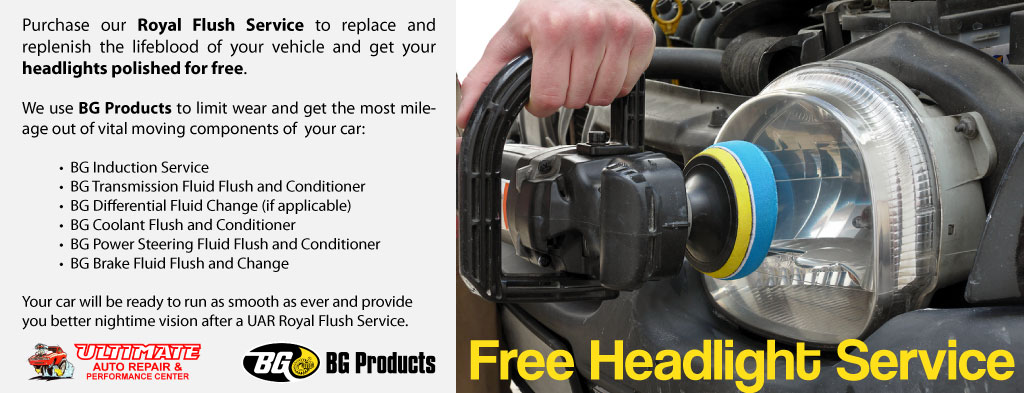 Free Headlight Service at Ultimate Auto Repair
